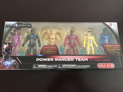 Power Ranger team with Goldar - set of 6 action figures - NEW!