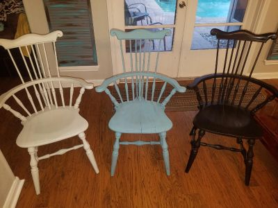 Three accent chairs