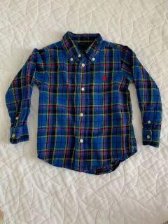 Plaid collard shirt