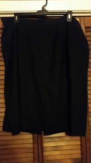 Black Lined Skirt size 24W