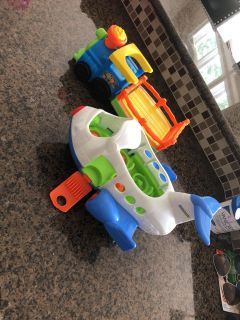 Little people airplane and wagon euc