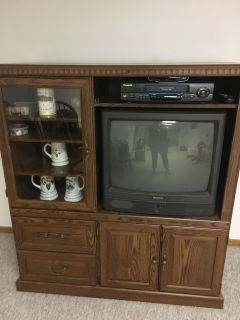 Entertainment center, tv,vcr included