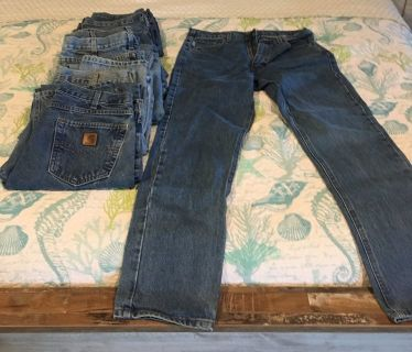 Carhart Jeans lot of 7