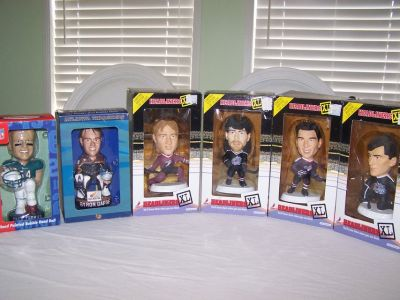 Sports Headliners/Bobble heads/Memorabilia/set of 6