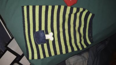 1 - Small Dog Green & Black Sweater
