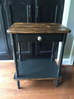Newly refinished side table