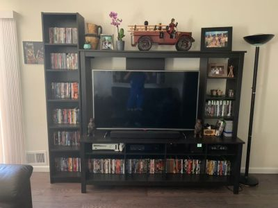 TV Stand with Shelves
