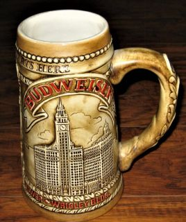 "1981 Handcrafted Budweister ""Chicagoland Starts Here"" Ceramarte Limited Edition Beer Stein"