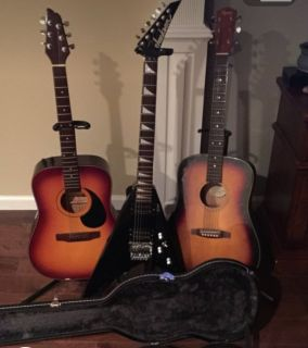 Assorted Guitars electric and acoustic
