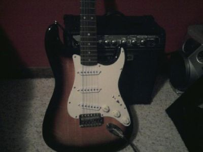 $120 OBO Fender Squire Bullet Strat Electric Guitar w/ 15w amp