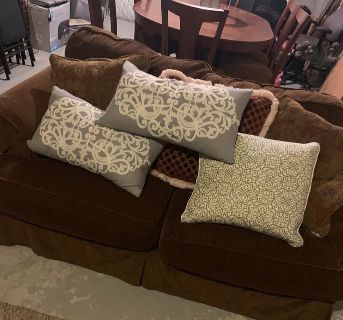Rowe brand- Down Couch & Loveseat