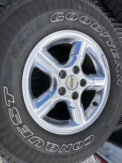 (4) 2005 Jeep Polished Aluminum Special Order Wheels