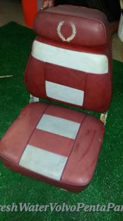 Find Red & Grey folding Premium Marine Captains Chair Boat seat Garelick Todd Wise motorcycle in North Port, Florida, United States, for US $60.00