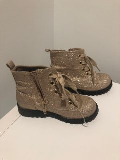 Cat and Jack Target Glitter Boots Size 10 Toddler