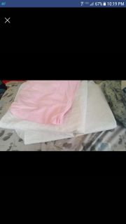 Mattress cover and sheet for a crib