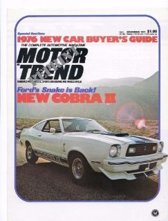 Find 1976 FORD MUSTANG COBRA II DEALER TRAINING BROCHURE motorcycle in Redmond, Washington, United States, for US $8.99