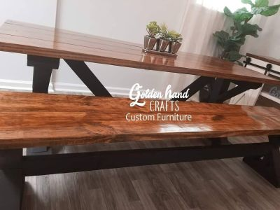 7ft Long dining table with Bench