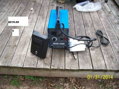 Mig Welder with Stand and Miscellaneous Items (South Bossier City)