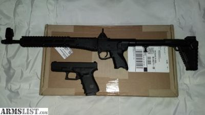 For Sale: DYNAMIC DUO: LNIB Glock 19 Gen 4 with night sights, Kel-Tec Sub2000 Rifle, extra mags