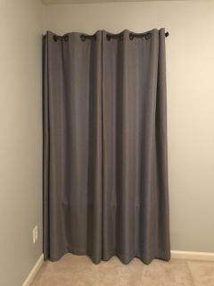 84 gray curtains.
