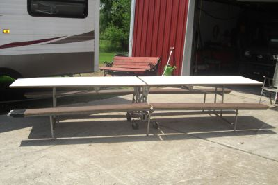Large folding cafeteria table