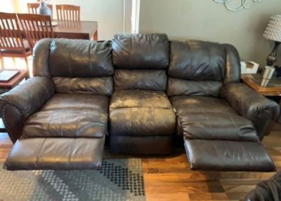 reclining leather couch (free)