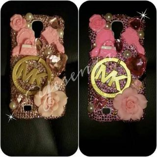 Michael Kors Pink Galaxy s4 bling case