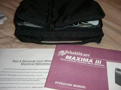 TENS MAXIMA lll 3 UNIT Nerve Stimulator Empi STAYODEN MAX Professional Rehabilitation Deep Tissue Muscle Massager