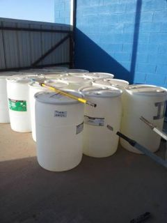 Large plastic soap barrels FREE (Andrews)
