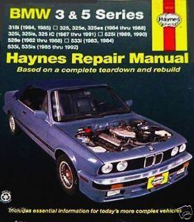 Buy BMW Repair Manual HAYNES 3-series 318 325 5-series 525 528 533 535 New FAST SHIP motorcycle in Hayward, California, United States, for US $19.95