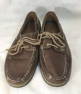 Bass Blaine Mens Shoes Size 10M Dark Brown Leather Lace Up Boat