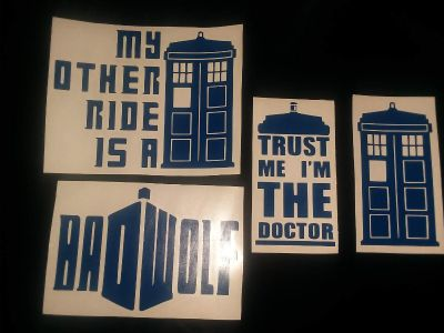 Dr. Who Decals (For cars, laptops, etc...)