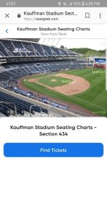 2 Royals and Cardinals tickets for Saturday 8/11