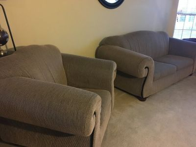 Couch (pull out bed) and Chair
