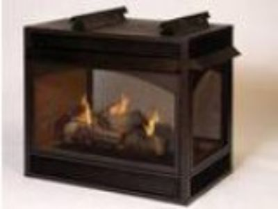 New Empire Vail Premium Vent-Free Natural Gas Peninsula Fireplac