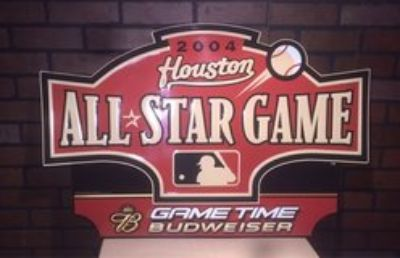 2004 MLB All-Star Game Collectible Astros Sign