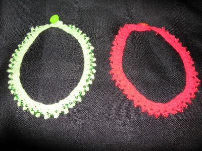 Home made crocheted chokers