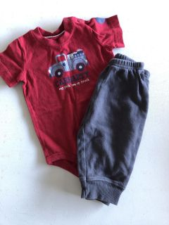 Carhartt onesie and Carters pants - 9 month