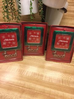 Lot of 3 Dog Picture Frame Ornaments