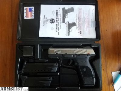For Sale: RUGER SR 40 C 3 MAGS, CASE 250 ROUNDS