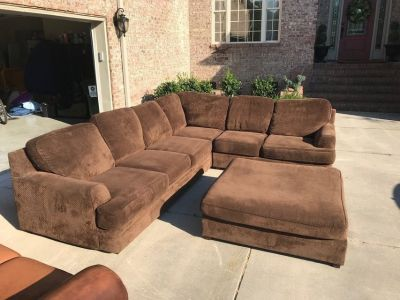 Couch and Ottoman L-shaped sectional