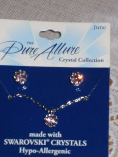 "new ""june"" necklace/earrings"