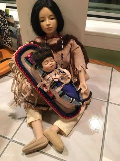Sacajawea Porcelain doll by the Hamilton collection
