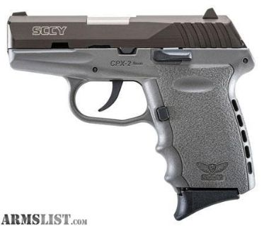 "For Sale: SCCY CPX2 CBSG CPX-2 CBSG Double 9mm 3.1"" 10+1 Zytel Polymer Grip Sniper Grey UPC: 857679003449"