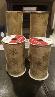 New unused. Lot of 4 extra wide ribbon