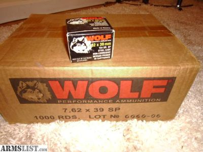 For Sale: Wolf 7.62x39 1,000 rounds