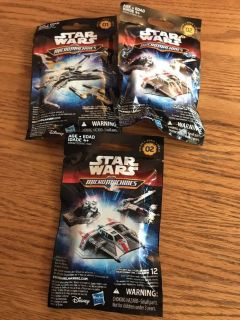 Lot of 3 Star Wars micromachines blind bags