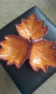 Better Homes and Gardens fall leaf candy dish excellent condition, no chips 12 by 12, $4