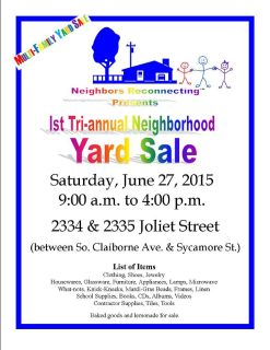 Multi-Family Neighborhood Yard Sale