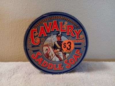 Cavalry Saddle Soap Tin Canister